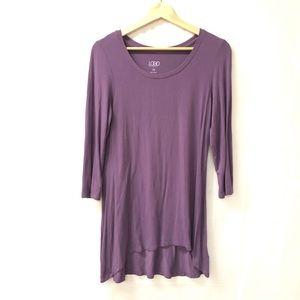 LOGO Lori Goldstein XS Purple tunic top